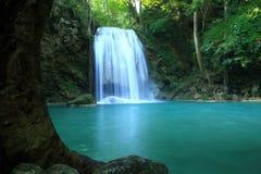 Beautiful  waterfall. In Erawan national park  of Thailand Stock Image