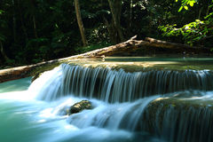 Beautiful  waterfall. In Erawan national park  of Thailand Royalty Free Stock Images