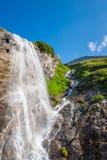 Beautiful waterfall in European mountains Stock Image