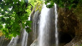 Beautiful waterfall falling off a cliff, Chegem Gorge, North Caucasus Royalty Free Stock Photography