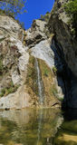 The beautiful waterfall of Fish Canyon Falls Trail. Los Angeles Royalty Free Stock Photography