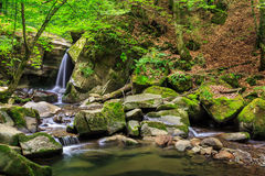 Beautiful waterfall  in the forest Stock Photo