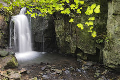 Beautiful waterfall in forest landscape long exposure flowing th stock photography
