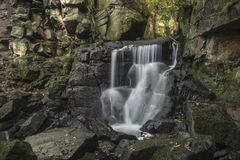 Beautiful waterfall in forest landscape long exposure flowing th royalty free stock photography