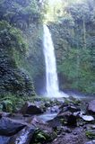 Waterfall in forest in Bali royalty free stock photos