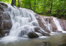 Beautiful waterfall in forest Stock Photos