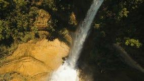 Beautiful tropical waterfall. Philippines Bohol island. stock video
