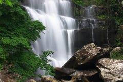 Beautiful waterfall and green maple. Beautiful waterfall at Phukradung National Park, Thailand royalty free stock images