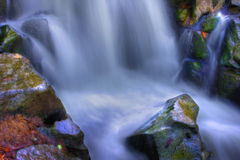 Beautiful waterfall in hdr Stock Image