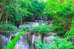 Beautiful waterfall in Huay Mae Kamin Kanjanaburi Thailand royalty free stock photos
