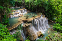 Beautiful waterfall in Huay mae kamin national park, Kanchanabur Royalty Free Stock Images