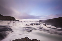 Beautiful Waterfall in Iceland Royalty Free Stock Photography
