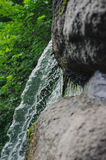 Beautiful Waterfall with jets of water on the rocks Royalty Free Stock Photography
