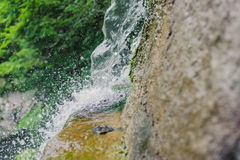 Beautiful Waterfall with jets of water on the rocks Royalty Free Stock Photos
