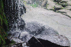 Beautiful Waterfall with jets of water on the rocks Royalty Free Stock Images