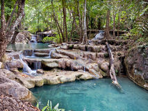 A beautiful waterfall in the jungle Royalty Free Stock Photos