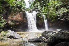 Beautiful waterfall in the jungle. Stock Photo