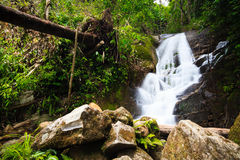 Beautiful waterfall in the jungle of Doi Inthanon in Thailand Stock Photo