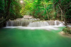 Beautiful Waterfall in the Jungle Stock Photos