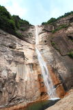 Beautiful waterfall landscape at Anhui mount Huangshan Royalty Free Stock Photo