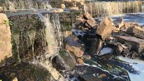 Beautiful waterfall landscape stock footage