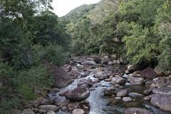 The beautiful waterfall. stock image