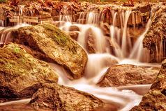 Beautiful waterfall landscape royalty free stock images
