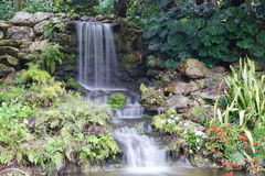 A beautiful waterfall in the legoland florida Stock Photo