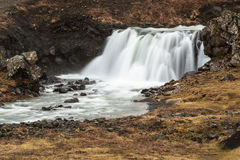 Beautiful waterfall in a long time exposure Stock Images