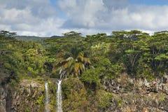 Beautiful waterfall in Mauritius Stock Photos