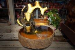 Beautiful waterfall model royalty free stock photos