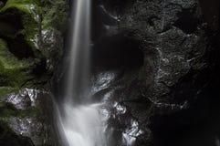 Beautiful Waterfall in mounain Adrspach Rock City Stock Photography