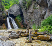 Beautiful waterfall in the Mount Olympus Stock Image