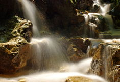 Beautiful waterfall in the mountain. Mountain river. Water stock photos