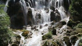 Beautiful waterfall in mountain stock video footage