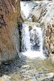 Beautiful waterfall in mountains. Beautiful waterfall in Atlas mountains Royalty Free Stock Photo