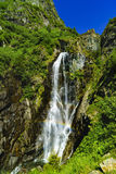 Beautiful waterfall in the mountains stock photos