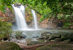 Beautiful waterfall in national park Stock Photos