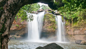 Beautiful waterfall in national park Royalty Free Stock Photos