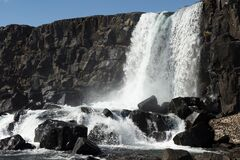 This beautiful waterfall in The National Park Thingvellir in named Oxarafoss