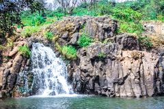 Beautiful waterfall near Panchgani Maharashtra royalty free stock photography