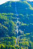 Beautiful waterfall in Norway fjords Stock Photography