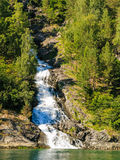 Beautiful waterfall in Norway fjords Royalty Free Stock Image
