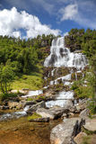 Beautiful waterfall in Norway. Stock Images