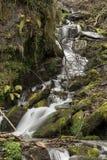 Beautiful waterfall in O Courel, Galicia, Spain royalty free stock photo