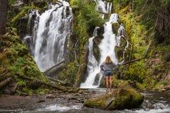 Beautiful waterfall in Oregon Stock Photos