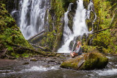 Beautiful waterfall in Oregon Royalty Free Stock Images