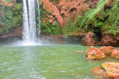 Beautiful waterfall in Ouzoud, Azilal, Morocco. Grand Atlas Stock Photography