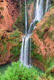 Beautiful waterfall in Ouzoud, Azilal, Morocco. Grand Atlas Royalty Free Stock Photo