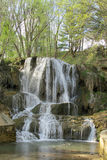 Beautiful waterfall in the park Royalty Free Stock Photo